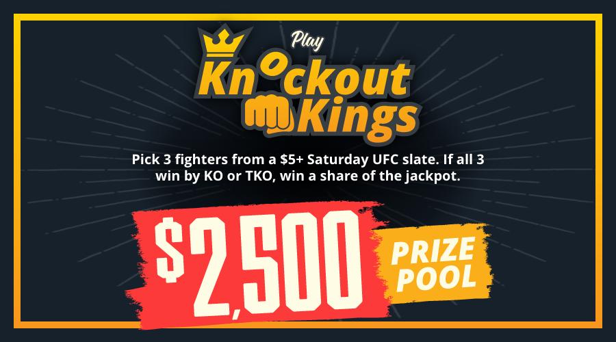 Play the $2500 Knockout Kings Contest for UFC 266: Volkanovski vs Ortega