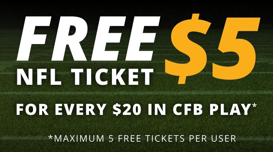 Get a Free $5 NFL Ticket by Playing $20 in CFB Contests